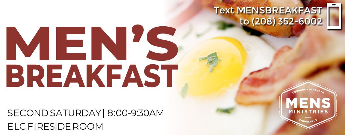 Men's Breakfast. 8-9:30am